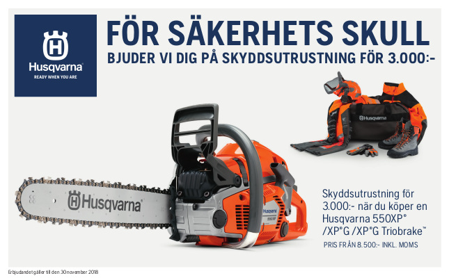 Husqvarna-Motorsag-Skyddsutrustning